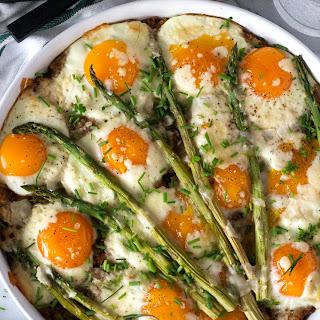 Asparagus & Hashbrown Egg Casserole.