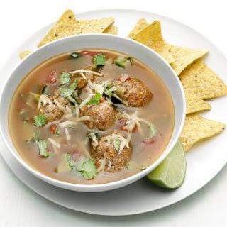 Mexican Chorizo Meatball Soup