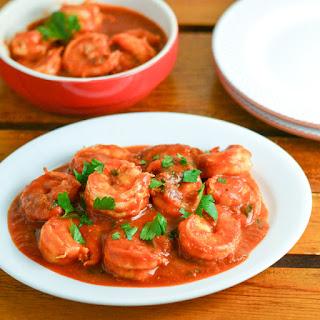 Saucy Tomato Garlic Shrimp