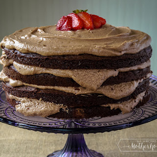 Dark Chocolate Cake With Mocha Frosting
