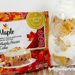 Maple Pecan Cake Parfait