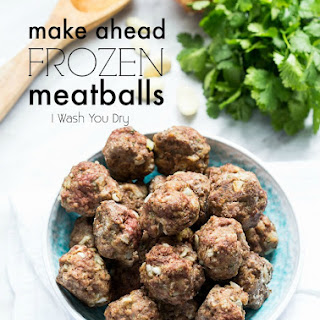 Make Ahead Frozen Meatballs.