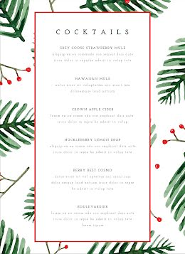 Holly Cocktails - Drinks Menu item