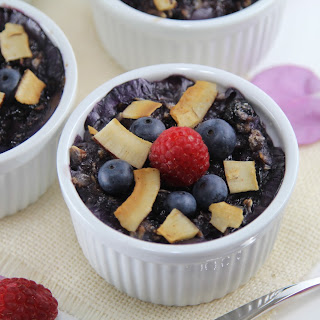 Blueberry Creme Brulee Oatmeal.