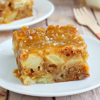 Fresh Apple Cake With Caramel Graze
