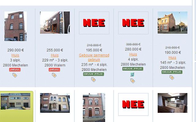Immoweb 'Nee' Label