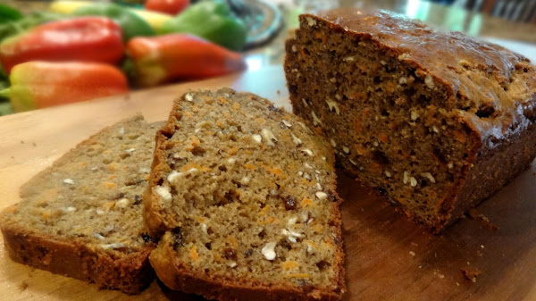 Nutty Cinnamon Carrot Bread, Low Carb--bonnie's Recipe