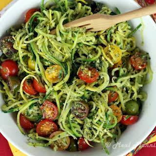 """Pesto """"Voodles"""" (Veggie Noodles)."""
