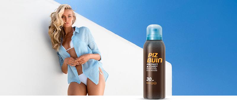 Vanaf nu te verkrijgen in alle Blue Sand winkels: Piz Buin