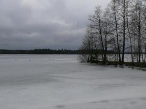 Photo: the lakes were still frozen