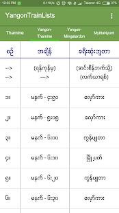 YangonTrainLists - náhled