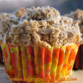 Banana Nut Muffins with Oatmeal Streusel.