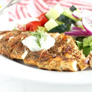Greek Chicken with Tzatziki Sauce.