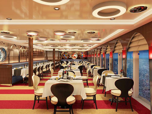 Koningsdam-Canaletto-rendering - The specialty restaurant Canaletto serves upscale Italian fare on Koningsdam.