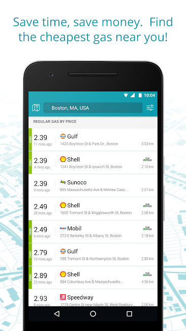 #2. GasBuddy: Find Cheap Gas (Android)