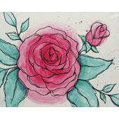 canvas painting design - Watercolor Rose