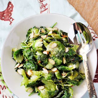 Spinach and Brussel Leaf Sauté.