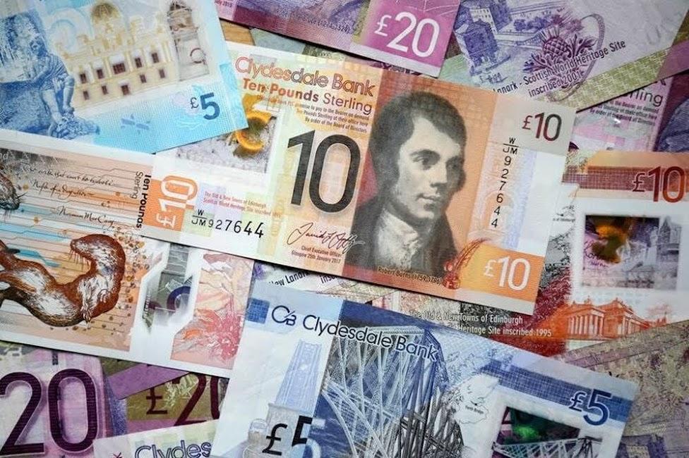 Szkocja, banknoty, Bank of Scotland, ceny w Szkocji