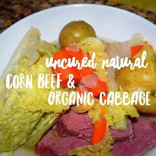 Natural Uncured Corned Beef and Cabbage with Organic Vegetables – Paleo Option Included.