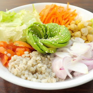 Vegan Chickpeas and Barley Salad