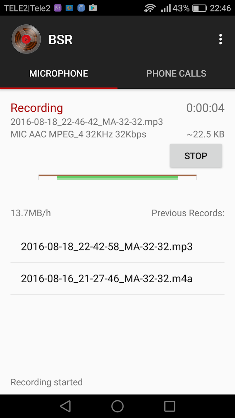 Background Sound Recorder Screenshot 1