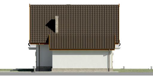 Dom przy Oliwkowej 2 H - Elewacja prawa