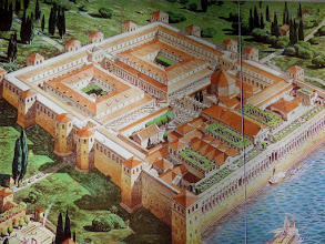 Photo: This is a representation of Diocletian's Palace built by the Roman emperor Diocletian at the turn of the fourth century.
