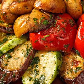 Grilled Eggplant & Zucchini Salad