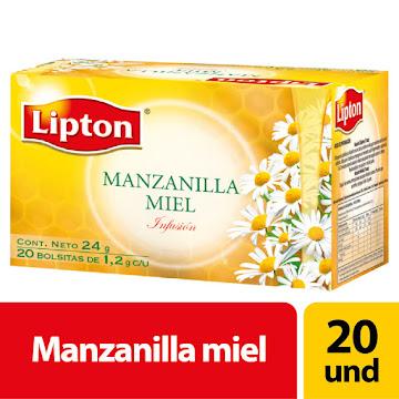 Té aromática LIPTON   Bolsas Manzanilla Sabor a Miel x20Und