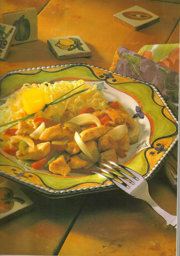 Chicken And Vegetables With Mustard Sauce Recipe