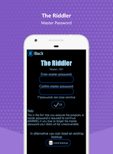 Riddler: Safe Password Manager- screenshot thumbnail
