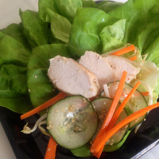 Asian Chicken and Veggie Lettuce Wraps