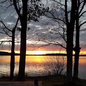 Fishing Hole by Debra Rebro - Landscapes Sunsets & Sunrises (  )