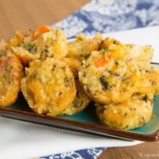 Cheesy Veggie Quinoa Bites