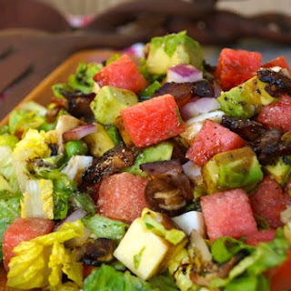Balsamic Glazed Watermelon-Avocado Chopped Salad
