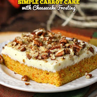 The Best Ever Simple Carrot Cake with Cheesecake Frosting.
