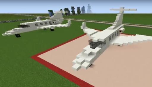 Minecraftの飛行機のアイデア