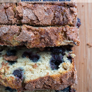 Cinnamon Sugar Blueberry Banana Bread