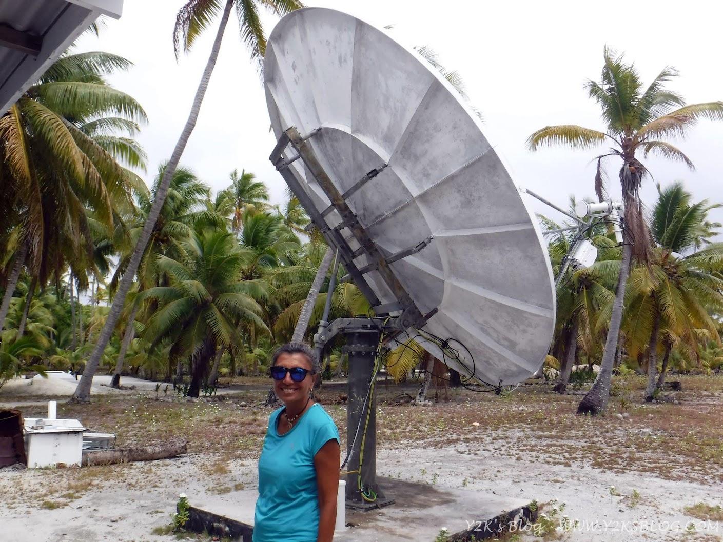 L'antenna satellitare di Palmerston