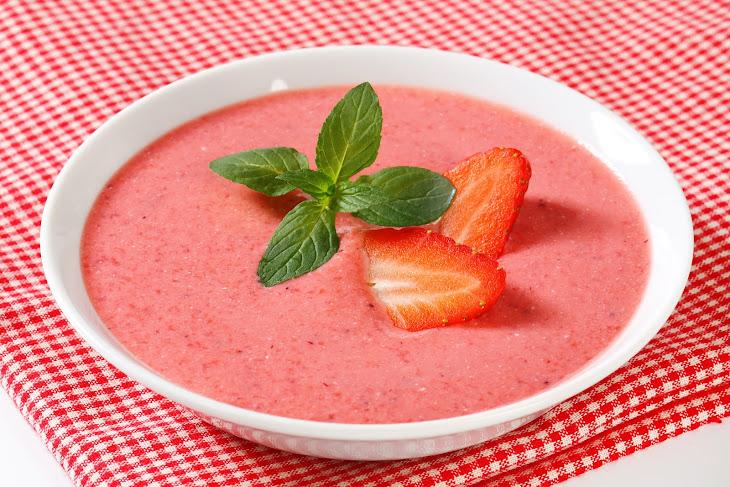 Strawberry Rhubarb Soup Recipe