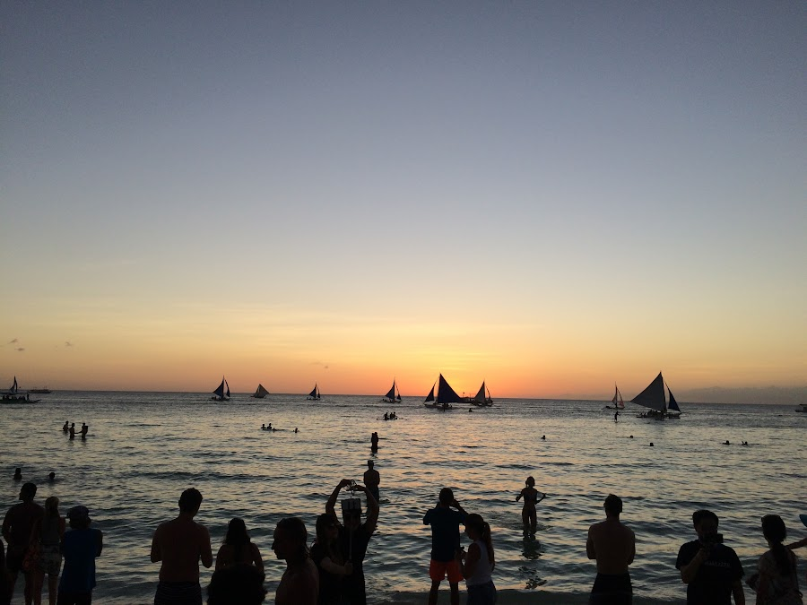 Закат на White Beach, Boracay