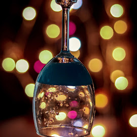 Bokeh and Drinks by Lakshya Sharma - Food & Drink Alcohol & Drinks ( #drink #drinks #bokeh #lights #food )