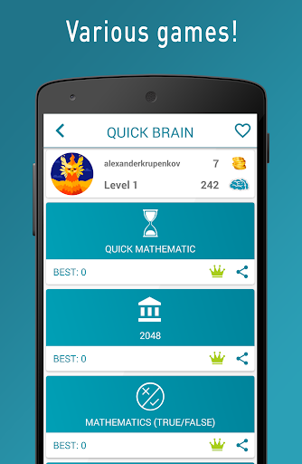 Quick Brain Mathematics - Exercises for the brain  screenshots 2