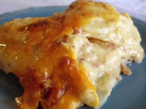 """Cheesy Bacon Potatoes """"These were FABULOUS! There are only two of us..."""