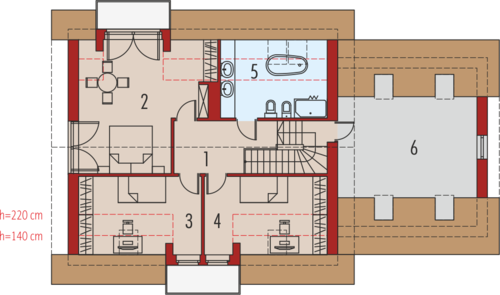 Amaranta G2 Leca® Dom - Rzut poddasza