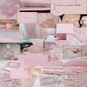aesthetic collage wallpapers pink icon