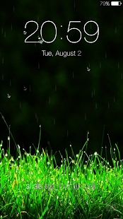 Galaxy rainy lockscreen Screenshot