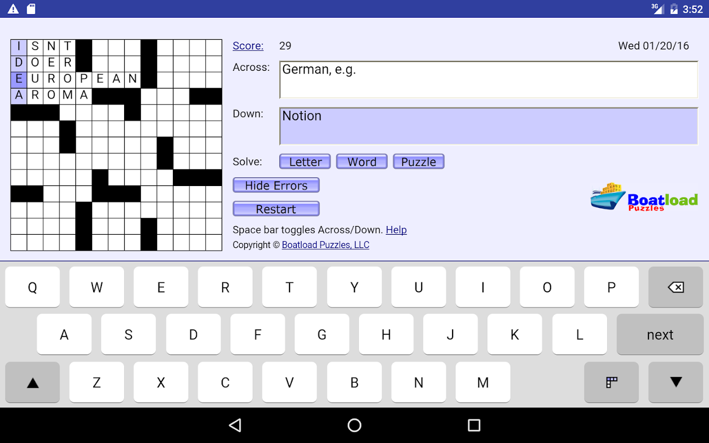 Daily Crosswords- screenshot