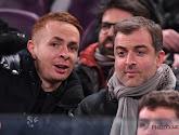 Adrien Trebel en tribunes à Charleroi avec Mogi Bayat