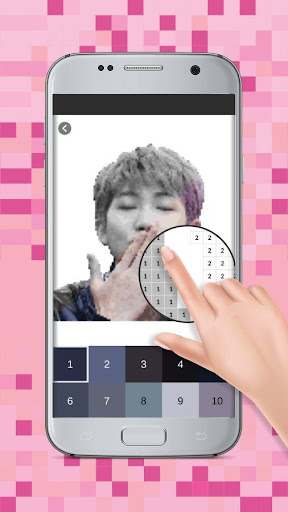 Pixel Art KPOP Pictures Coloring : Color by Number for PC